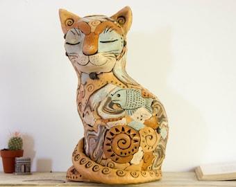 Art deco statue. Cat sculpture. Art deco sculpture. Cat statue. Living room decor. Home decor item