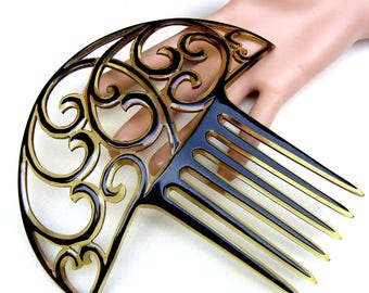 Hair comb vintage Art Deco hair accessory hair fork hair pick hair pin headdress headpiece hair jewellery hair ornament