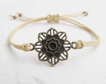 Mandala bracelet, yoga bracelet, mandala jewelry