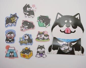 Shiba Inu stickers, kawaii shiba inu, kawaii sticker flakes, cute stickers, Japanese stickers, cute shiba inu, dog, cute planner stickers