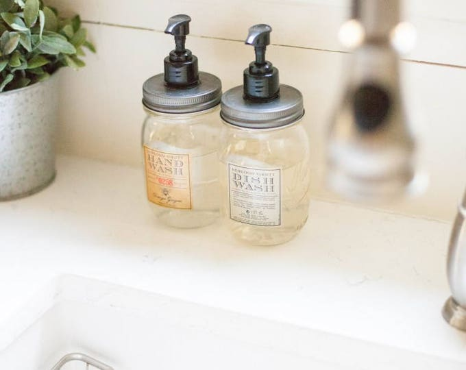 Soap or Lotion Mason Jar Dispenser // Rustic Kitchen or Bathroom Decor// Mother's Day Gift// Teachers Gift// Home Decor, Interesting Gifts