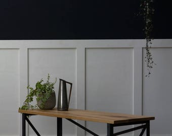 KONK! INDUSTRIAL Style Slim Bench - Seat, Chic, reclaimed, cafe, restaurant dining
