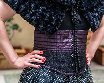 Purple waist cincher