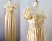 Vintage Inspired Nightgowns, Robes, Pajamas, Baby Dolls 1930s Nightgown  Vintage 30s Silk and Rayon Nightgown  S M $95.00 AT vintagedancer.com