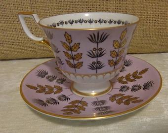 Vintage Tuscan Bone China Teacup and Saucer, England, Tuscan English China Tea cup and saucer