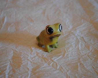 Vintage Josef Originals Frog with butterfly figurine