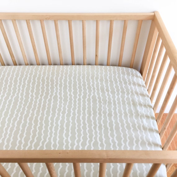 Crib Sheet - KUJIRA Waves in Sand - READY-to-SHIP