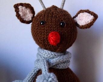 Christmas Reindeer Knitted Pattern