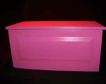 Pink - Hope - Toy - Blanket Chest - Lined in Black Felt