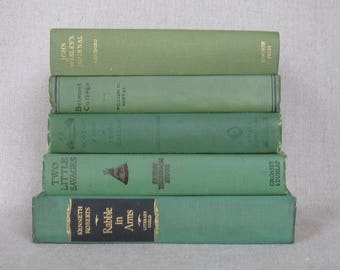 Vintage Book Bundle in Green