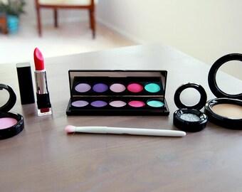 Pretend Makeup Set For Your Munchkin - Play Makeup - Looks Real Fake Makeup - Makeup Vanity Set - Pretend Play - Makeup Brush Set Kid Makeup
