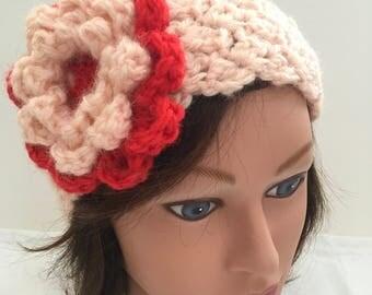 Hand Crocheted Headband Earwarmer