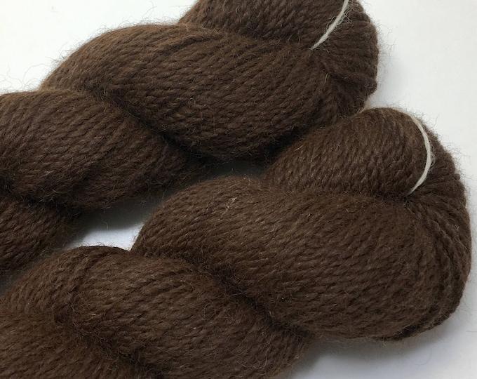 Homegrown alpaca & angora worsted weight yarn.