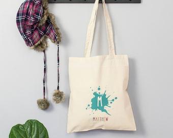 Name Tote Bag - Initial And Name Bag - Book Bag - Grocery Bag - Shopping Bag - Kids' Bag - Personalised