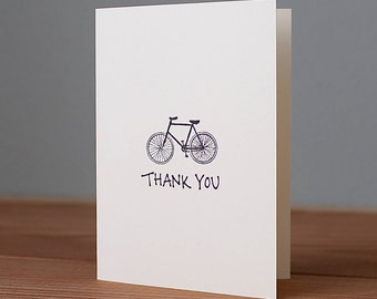 Handmade Bicycle Thank You Card