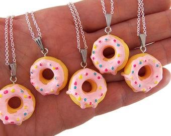 Donut necklace, neckalces, donut birthday party favors, sweet 16 necklace, sweet 16 birthday party favor, doughnut necklace, donut necklace