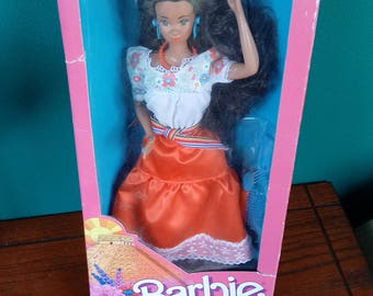 Mattel Dolls of the World Mexican Barbie Doll Vintage Mexican Barbie Doll