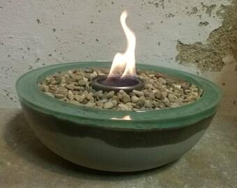 Concrete Fire Bowl - Choose Color | Fire Pit | Cement Rock Bowl | Outdoor Patio | Outside Decor | Colored Bowl | Fire Gel | Zen Garden