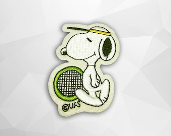 Snoopy Iron on Patch(M2), Cartoon Applique Embroidered Iron on Patch Size 4.8(W)x6.7(H) cm