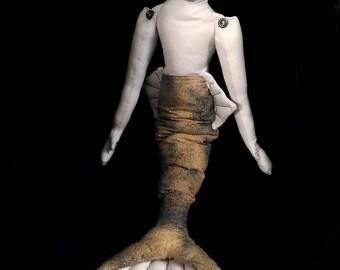 Mermaid soft sculpture doll