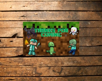 Minecraft Invitation, Minecraft Birthday Invitation, Minecraft Invites, Minecraft