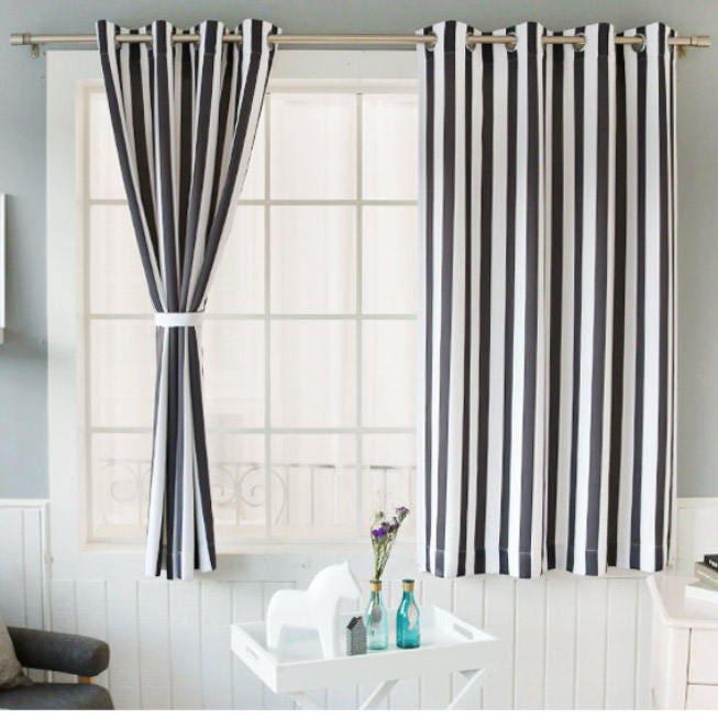 vertical striped curtains grommet 102w x 67l pair. Black Bedroom Furniture Sets. Home Design Ideas