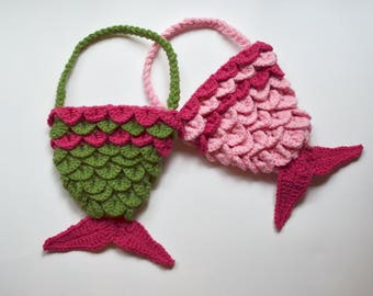 Toddler Purse - Mermaid Tail Purse for Little Girls and Toddlers - Mermaid Purse - Gifts for Little Girls - Crochet Purse for Kids