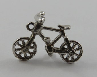 Bicycle Sterling Silver Vintage Charm For Bracelet
