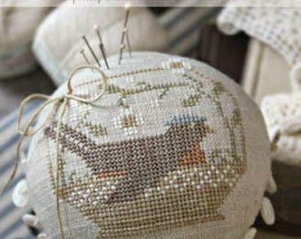 A Tisket A Tasket -  Cross Stitch pattern by Brenda Gervais (With Thy Needle and Thread) - Perfect for Spring!! SALE!!