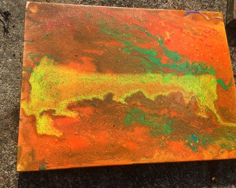 Fire Energy Painting 9 x 12inch