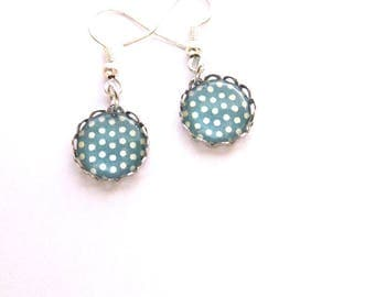 Earrings - dots, Cabochon jewelry and cabochons