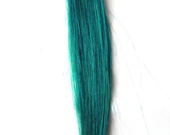 EMERALD GREEN Jade Forest 100% Human Hair Extensions Double Wefted : Clip In Hair Extensions, Hair Extensions, Green Hair