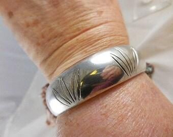 Vintage Heavy Sterling Silver Cuff Bracelet