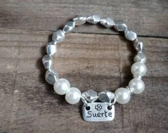 50 style one bracelet, lucky pearl bracelet