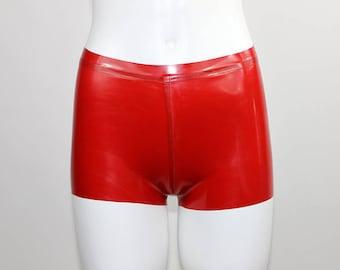 Latex hot pants