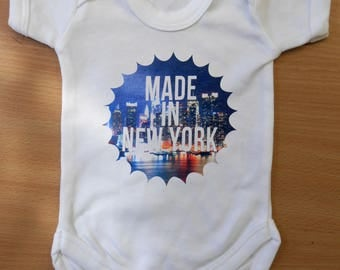 Baby Made in NEW YORK Vest / Body Suit / Play Suit - New York Baby