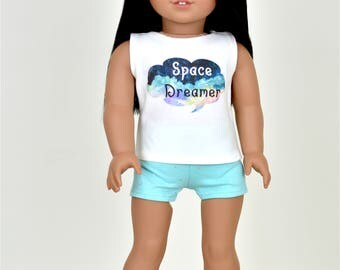 Pajamas set Galaxy Theme 18 inch doll clothes Stars