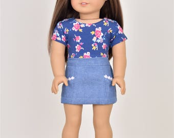 Crop top 18 inch doll clothes Short Sleeve