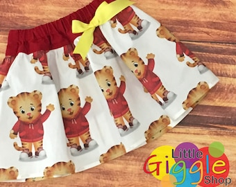 Daniel Tiger Skirt, Daniel Tiger Birthday, Daniel Tiger, Daniel Tiger Party, Daniel Tiger Dress, Daniel Tiger's Neighborhood, Handmade