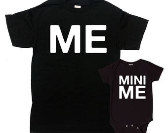 Daddy And Me Shirts Mom And Daughter T Shirts Father And Son Gifts Mommy And Me Outfits Matching Set Me And Mini Me Bodysuit - SA818-819