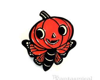 Butterfly Jack Halloween Enamel Pin by Rhode Montijo