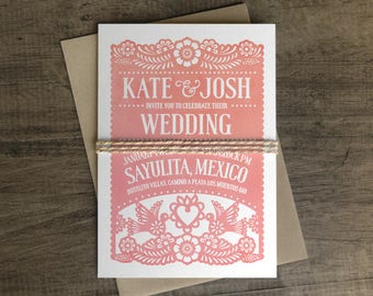 papel picado wedding invitations | etsy, Wedding invitations
