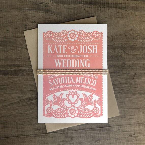 like this item - Papel Picado Wedding Invitations