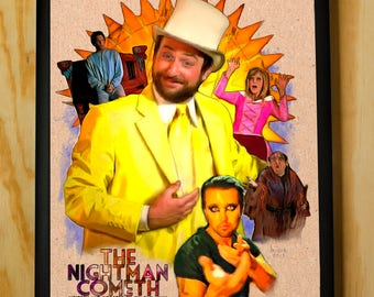 The Nightman Cometh - Charlie Kelly - It's Always Sunny in Philadelphia - Wall Art - Color Pencil Portrait Poster Print