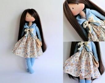 Handmade doll. Art doll. Fabric doll.Tilda doll.Textile doll. Doll interior. Dolls ElenShudra. Baby doll. Gift idea. A doll for Christmas.
