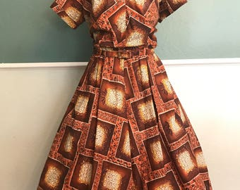 1950's 1960's Royal Hawaiian Pineapple Dres Medium 30 waist