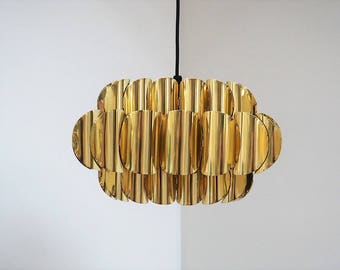 Amazing brass pendant designed by Torsten Orrling for Hans Agne Jakobsson, 1960s
