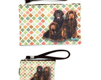 NEWFOUNDLAND DOG Pouche & Coin Purse, Dog Lovers, Wristlet Pouch