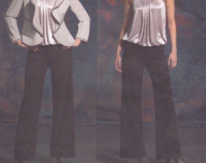 FREE US SHIP Vogue 2923 dkny Designer Donna Karan  Blouson Top Pants Jacket Sewing Pattern Size 12 14 16 18  Bust 34 36 38 40 New oop