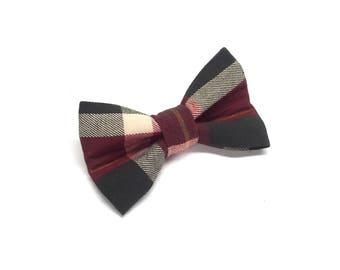 Evergreen Plaid Dog Bow Tie, Green dog bowtie, holiday dog bowtie, dog bow tie, plaid dog bowtie